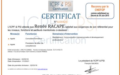 Certification qualité des organismes de formation